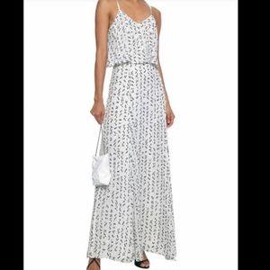 Make Offer Halston Sleeveless Chiffon Maxi Dress